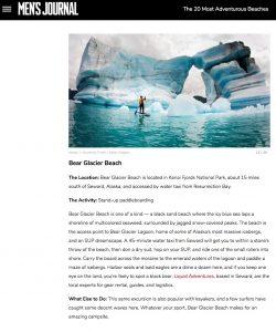 SUP Paddler Bear Glacier, Kenai Peninsula Alaska.
