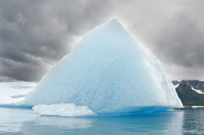 Men's Journal uses an iceberg photo for Meals article.